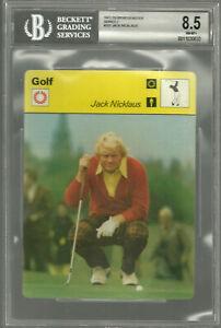 Jack Nicklaus 1977 Sportscasters Series 2 #202 Golf Card BGS BVG 8.5  NEAR MINT+
