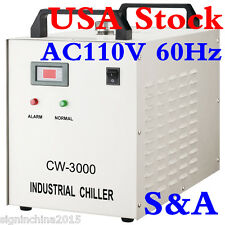 S&A 110V CW-3000DG Water Chiller for Laser Engraver with 60W / 80W CO2 GlassTube