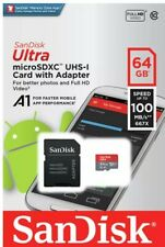 64gb micro sd card SanDisk plus adapter devices compatible, 100% class 10