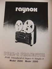 Instructions cine movie projector RAYNOX DUAL-8 3000 & 2000 - CD/Email