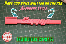 Action Hero Personalised Named 3D Pen Novelty Kids Man Woman Customised  Gift