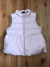 GAP GIRLS BABY PINK PUFFA BODY WARMER - 5 YEARS