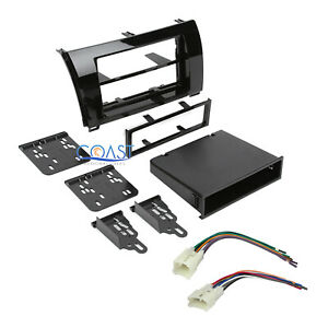 Car Stereo Single Double Din Dash Kit Harness for 2007-13 Toyota Tundra Sequoia