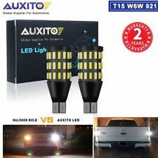 2X Backup Reverse Lights 921 912 T15 LED 6000K White Bulb 2200LM 54H Light Bulb