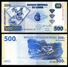CONGO 500 FRANCS 2002 P 96 HDM UNC LOT 5 PCS