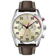 Scuderia Ferrari Mens D50 Champagne Brown Leather 0830174 Watch