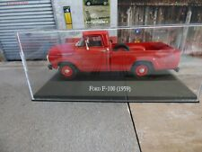Voiture 1/43 SALVAT Autos Inolvidables : FORD F-100 1959 pick-up boite plexi