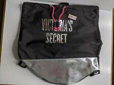 NWT Victoria's Secret Tote Bag Backpack Metallic Silver Black And Pink Bath Bomb