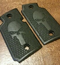 Walnut Wood Grips w/ Skull Engraving, Stained Black - Will fit Sig Sauer P938