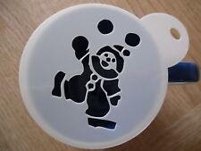 Laser cut juggling clown design coffee and craft stencil