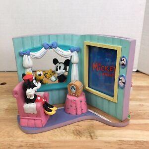 Disney Mickey & Friends 3D Picture Frame 5 X 3.5 Minnie Pluto Radio Flowers