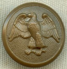1943 WAAC Women's Army Aux. Corps Uniform Button in Wartime Shortage Materials