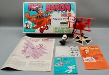 VINTAGE 1971 MATTEL MONOGRAM RED BARON FOKKER TRIPLANE SNAP-TITE MODEL KIT w/BOX