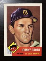1953 Topps #36 Johnny Groth PSA 5 Detroit Tigers Archive