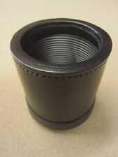 Black Genuine Leather Dice Cup Dice Cups