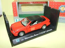 MERCEDES CLK 320 Cabriolet Capoté Rouge CARARAMA
