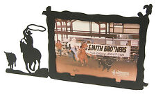 """Steer Calf Roping Rodeo Cowboy Picture Frame 3.5""""x5"""" - 3""""x5"""" H"""