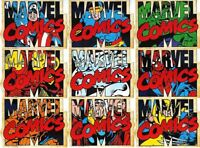 2010 MARVEL 70th ANNIVERSARY CHARACTER DIE CUT COMPLETE  9 CARD CHASE SET, XMEN