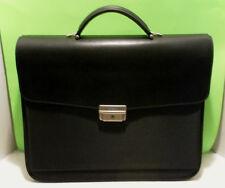 MAZZINI Firenze Italy BLACK CANVAS/Leather Laptop/BRIEFCASE BAG