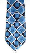 Vintage 1960 s Mans Wide Tie Terylene Warp CRIMPLENE Weft UNUSED Blue Survêtement Check