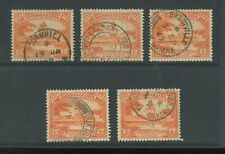 BRITISH GUIANA 1947 VILLAGE POSTMARKS CORNHILL PLAISANCE BAGOTVILLE etc 5 stamps
