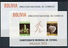 Bolivien Block 36/37 postfrisch / Fußball .................................1/636