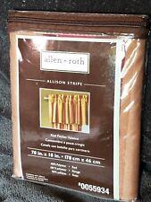 """Allen + Roth Allison Stripe Red Rod Pocket Valance  70""""x18""""     #0055934~NIP"""