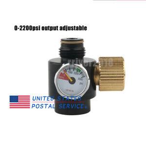 PCP Adjustable Valve Aluminium 0-2200Psi Output Regulator Air Tank Paintball