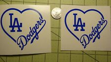 LA Dodgers 2X  3 1/2 inch car decal