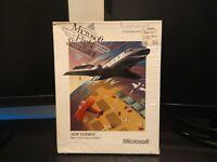 Vintage 1989 Microsoft Flight Simulator 3.5 Floppy Disk Version 4.0 for DOS PC
