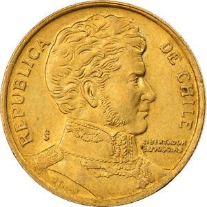 [#822762] Coin, Chile, 10 Pesos, 1991, Santiago, EF, Aluminum-Bronze, KM:228.2