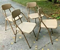 Vintage Set of 4 Mid Century Modern Hamilton Cosco Folding Chairs Style 90