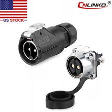 CNLINKO 2 Pin 50A Power Connector Male Plug & Female Socket Waterproof IP67