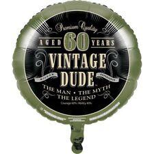 Vintage Dude 60th Birthday Foil Balloon The Man Myth Legend Party Decor