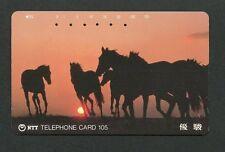 JAPAN TELEFONKARTE PFERDE PFERD NIPPON TELEPHONE CARD HORSE HORSES d5938