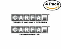 Carfax 4 Stickers 4X4 inches Sticker Decal