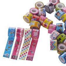 15X Roll Mixed Cute Cartoon Deco DIY Adhesive Tape Scrapbooking Sticker Kid Gift