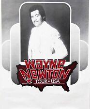Wayne Newton 1983 Tour U.S.A. Promo Poster Original Authentic