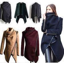 New Winter Ladies Casual Long Coat Warm Womens Slim Collar Jackets Outwear Top