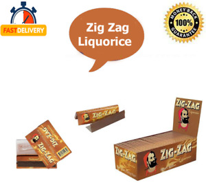 PAPERS ZIG ZAG  LIQUORICE ROLLING PAPERS REGULAR SIZE  1 / 25 / 50 BOOKLETS