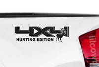 4X4 Hunting Edition Truck Bed Decals kit (Set of 2) Deer Truck sticker TT25