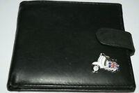 Scooter MOD Wallet Lambretta Leather Gift - Black/Brown/Tan Money holder Enamel