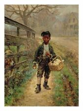 Custom Edward Lamson Henry Oil Painting repro Protecting the Groceries
