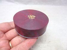 Vintage purple plastic ladies powder compact. Empty