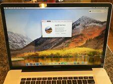 """Macbook Pro A1297 Mid 2011 17"""" 2.3 GHz 8GB RAM High Sierra 320 GB HDD. Used"""