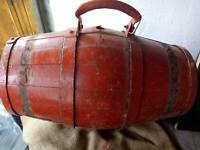 ! Antique Primitive Wooden Wood Barrel Keg Vessel Canteen Rustic 19th