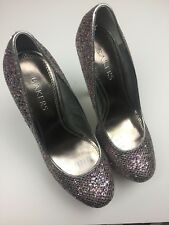 Bakers Womens Shoes Size 7M Platform Heels Metalic Pink Glitter