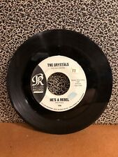 """THE CRYSTALS 45RPM 7"""" Single Phillies Records """"He's A Rebel"""" (J68)"""
