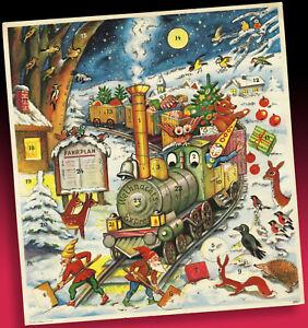 Age Calendrier De L'Avent West Germany La Weihnachtsexpress Ferroviaire Vient