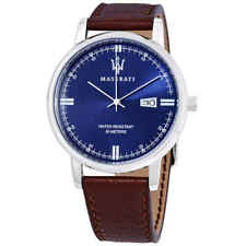 Maserati Classe Blue Dial Brown Leather Men's Watch R8851130003
